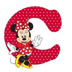 Resultado de imagen para letra I de minnie mouse para imprimir