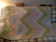 Made this one for my daughters dear friend Christina, Abby Latimer machine quilted