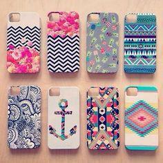 Carcasa para celular con diseños coloridos y juveniles