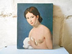 Nude Portrait of a Girl  painting Jean Louis David by Birdycoconut