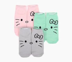 Hello Kitty 3 Pack Ped Socks: Mix Up