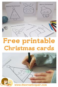 free christmas card printables (DID IT! the cards are cute but not sized for standard envelopes)