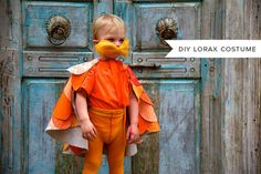 DIY Lorax Costume Disney Halloween, Lorax Costume, Easy Halloween Costumes Kids, Baby Girl Halloween, Halloween Kostüm, Halloween Projects, Halloween Season, Halloween Quilts, Best Baby Costumes
