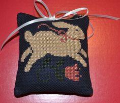 Cross Stitch Ornament Rabbit by lovemypaperaddiction on Etsy