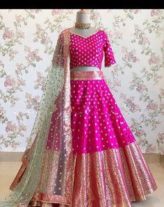 Lehenga For Girls, Kids Lehenga Choli, Banarasi Lehenga, Half Saree Lehenga, Lehnga Dress, Bridal Lehenga Choli, Indian Lehenga, Lehengas For Kids, Heavy Lehenga