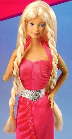 Twirly Curls Barbie. Came with a contraption you could clip her/your hair into and twirl!