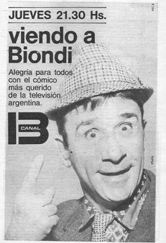 Programa VIENDO A BIONDI, con Pepe Biondi, Canal 13, Buenos Aires, 1968.