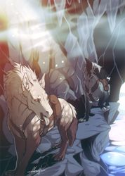 * Journey by Riskikoi on DeviantArt Super Great Journey by Riskikoi . Journey, Wolf Rider, Manga, Deviantart, Creature Design, Furry Art, Mythical Creatures, Animal Drawings, Nerd