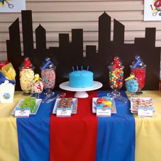 William turns 4 in this fantastic superhero-themed birthday party! It was put together by party planner Mel Betts of Confetti Party Creations located in Sydney, Australia. For the dessert table, Mel used a primary color palette along with printables from my shop to highlight the ...