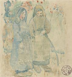 DEUX BRETONNES By Paul Gauguin ,1894