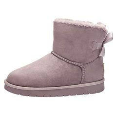 bcd8784cd03632 Women s Snow Boots Pull-on Fashion Winter Boot Warm Outdoor Fluffy Lining Solid  Ankle Booties
