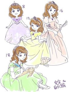 Teen Sofia by Cawoli (LOVE the 16 dress!) Wow, I love the art style! Disney And Dreamworks, Disney Pixar, Disney Characters, Sofia The First Characters, Walt Disney, Disney Fan Art, Disney Love, Princesa Anastasia, Character Inspiration