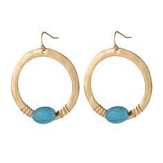 Élégant Femme Peach Blossom grand cercle Ear Stud Dangle Earrings Fashion Jewelry