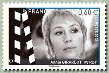 Annie Girardot 1931-2011 Les acteurs de cinéma - Timbre de 2012