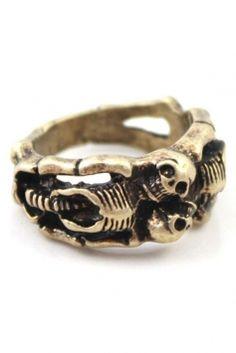 Antique Skull Jewelry $13