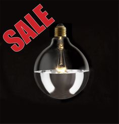 Industrial Vintage Style 125mm Silver Dipped Half Mirror Globe Lamp Light Bulb