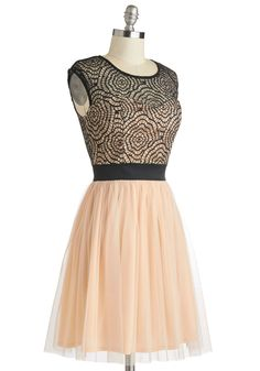 Starlet's Web Dress in Peach. You and your pop-culture-crazed pals love hosting fanciful premiere parties for exciting new films, and guests are just about to arrive for tonights glamorous gathering! #pink #prom #modcloth
