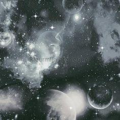 Zwarte ruimte behang 340662 uit de collectie Simply Decor van AS Creation is verkrijgbaar bij kleurmijninterieur