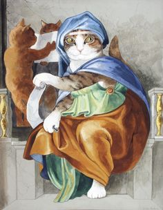 DELPHIC SIBYL by Susan Herbert. This one is for the art history nerds...