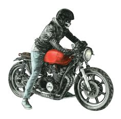 """Check out this @Behance project: """"Café Racer project No. 2"""" https://www.behance.net/gallery/51661455/Caf-Racer-project-No-2"""