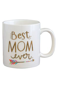 Declaring the best mom ever with this cute coffee mug.
