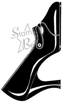 Fashion Pump Rubber Stamp