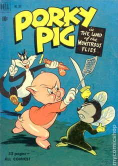 Four Color (1942 Series 2) 303 porky pig comic book looney tunes vintage dell