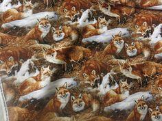 Bildresultat för photo print fabric fox