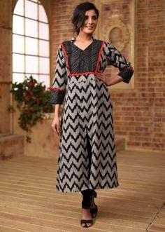 3adced62010 Exclusive handloom cotton ikat long kurti