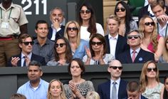 LONDON, ENGLAND - JULY 06: Nico Jackson, Pippa Middleton, Carole Middleton and Michael Middleton attend the mens singles final between Novak Djokovic and Roger Federer on centre court during day thirteen of the Wimbledon Championships at Wimbledon on July 6, 2014 in London, England. (Photo by Karwai Tang/WireImage)