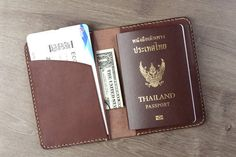 Items similar to Personalised leather passport holder, Vegetable tanned leather, Passport case,Travel wallet, Passport wallet on Etsy Leather Passport Wallet, Leather Wallet, Leather Bags, Dark Brown Leather, Tan Leather, Document Holder, Leather Notebook, Wallet Pattern, Vegetable Tanned Leather
