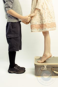 I used a suitcase as a simple prop. I love this pose for brothers and sisters as well as couples. Photography Ideas, Portrait Photography, Older Siblings, Sibling Poses, Family Posing, Photo Shoot, Suitcase, Photo Ideas, Brother