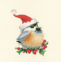 Time for posting some Christmas cross stitch projects that I have done over the years 🎅🎄 Cross Stitch Bird, Cross Stitch Animals, Counted Cross Stitch Patterns, Cross Stitch Designs, Cross Stitching, Cross Stitch Embroidery, Cross Stitch Patterns Free Christmas, Christmas Cross Stitch Patterns, Embroidery Patterns