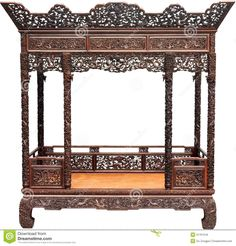 CHINESE ANTIQUE INTERIORS | Shot of chinese traditional bed room interiorPhoto taken on: August ...