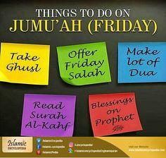 #Thingstodo on #Jummah (#Friday)!