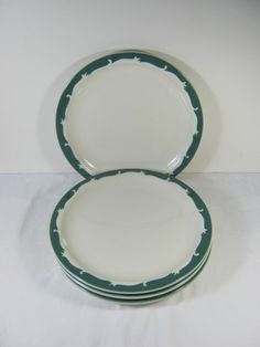 Vintage RESTAURANT Ware LUNCH PLATES by LavenderGardenCottage etsy