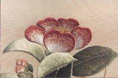 fleurs brodées