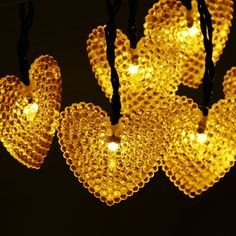 Dephen Solar Powered Starry Fairy String Lights,20ft 30 LED Solar Heart-Shaped Cover String Lights Waterproof Ambiance Lighting for Outdoor Patio Gardens Homes Christmas Party(Warm White) >>> For more information, visit image link.