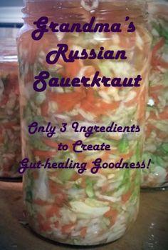 Russian Sauerkraut - only 3 ingredients - super easy - allergen free - paleo - aip