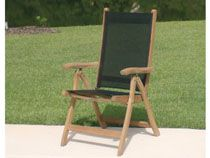Florida Reclining Chairs With Black Sling. Also Available with white sling. UHW - Unique Furnishings For Home & Patio