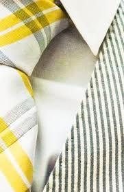 yellow & gray plaid necktie