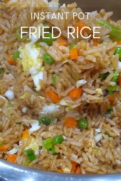 This Fried Rice is just like the one you get at your local Chinese restaurant. Try this Instant Pot Fried rice, so easy to make from scratch and comes together in under 20 minutes!! #livingsmartandhealthy #friedrice #instantpot #instantpotfriedrice #instantpotrecipes #chinesefriedrice #restaurantstylefriedrice #dinnerrecipes Instant Pot Chinese Recipes, Rice Instant Pot Recipe, Instant Pot Dinner Recipes, Instant Rice, Fried Rice With Egg, Veggie Fried Rice, Easy Fried Rice, Fried Rice Recipe Chinese, Easy Chicken Fried Rice Recipe