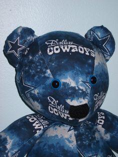 Dallas Teddy Bear Cowboys Football Buddy Mascot by DoOver on Etsy