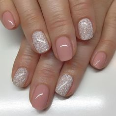 Gel Nail Designs For Short Nails Pictures pin on nail Gel Nail Designs For Short Nails. Here is Gel Nail Designs For Short Nails Pictures for you. Gel Nail Designs For Short Nails pin auf nails. Glitter Gel Nails, Nude Nails, My Nails, Coffin Nails, Neutral Gel Nails, Sns Nails Colors, Silver Glitter, Pedicure Colors, Silver And Pink Nails