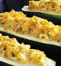 Crab-Stuffed Zucchini