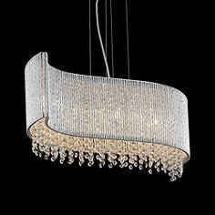 Chandelier Lamp, Chandeliers, Led Pendant Lights, Modern Houses, Light Art, Chrome, Dining Room, Clock, Crystals