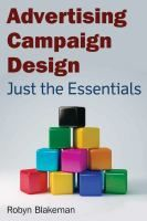 This compact, yet content-rich guide is designed to be a just the basics core textbook for Advertising Campaign courses. The author's step-by-step approach to campaign design dissects the creative process necessary to design a successful integrated marketing communications (IMC) campaign one topic at a time, creating an invaluable research tool that students and professors alike will refer to time and again.