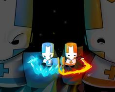 Castle Crashers Ice and Fire by ZeyJin.deviantart.com