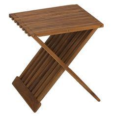 Shop Bare Decor Rocco Solid Teak Wood Folding Stool - Overstock - 9632638