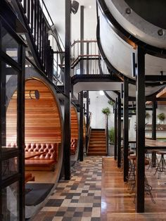 Tubos prefabricados de hormig�n dan car�cter a la reforma de The Prahran Hotel, en Melbourne